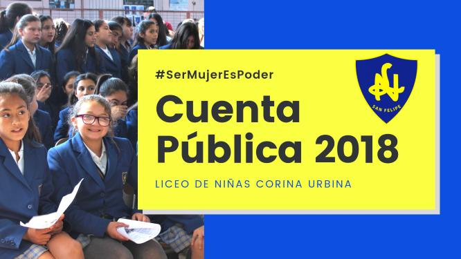 CUENTA PUBLICA LICEANA 2018