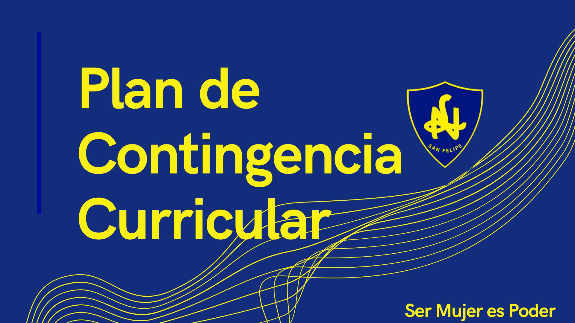 PLAN DE CONTINGENCIA CURRICULAR